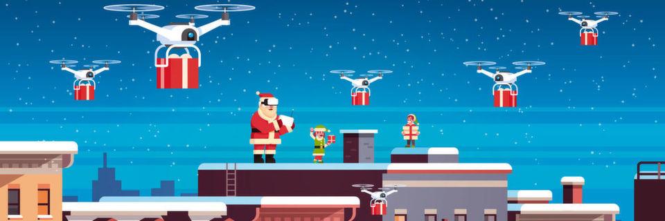 Auch der Weihnachtsmann kommt heute ohne Technik nicht mehr aus!