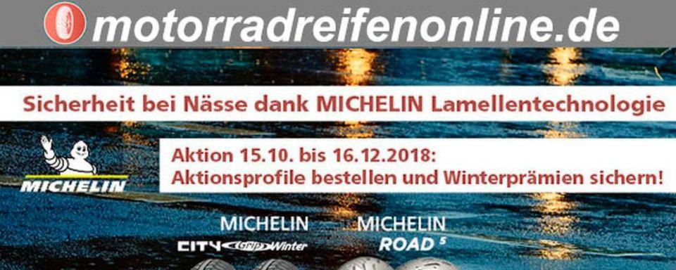 Händlerkunden, die noch bis zum 16. Dezember 2018 einen Satz ausgewählter Michelin-Reifen bestellen, erhalten zur Bestellung tolle Winter-Prämien.