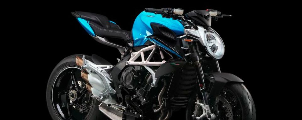 "Die MV Brutale 800 in der Farbe ""intense sky blue/night grey""."