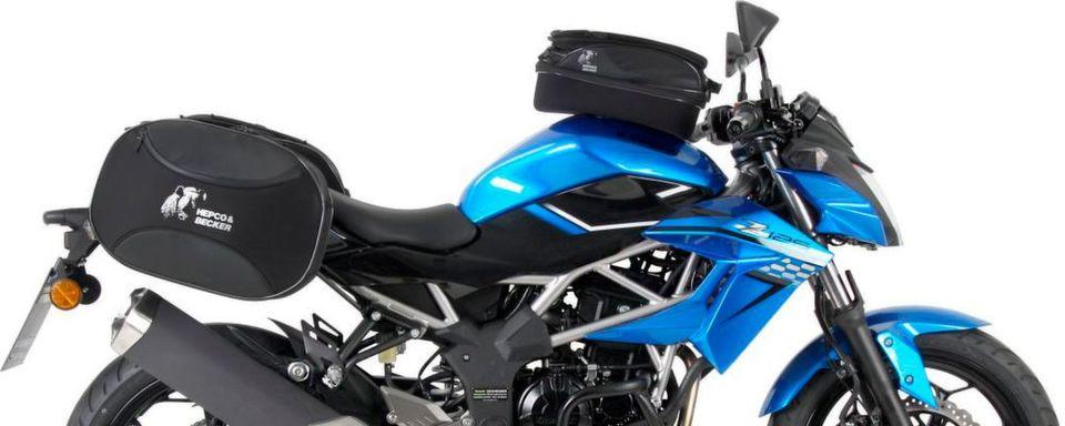Das kleine Naked-Bike Z 125 erlaubt die Befestigung von Gepäckträgern um somit direkt ins Abenteuer zu starten.