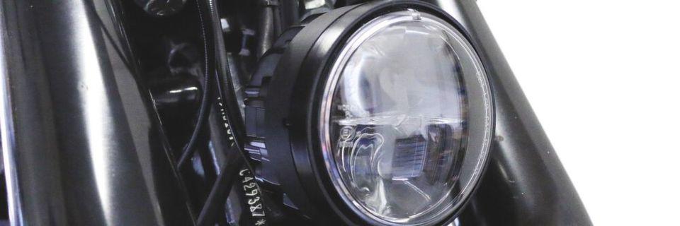 Der derzeit kleinste Scheinwerfer für Harleys.