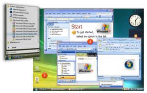 MED-V ermöglicht die Integration von Windows XP-Anwendungen in Windows Vista Arbeitsplätze.