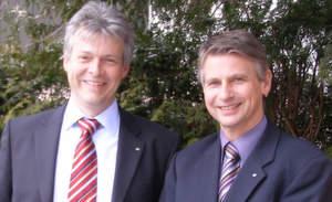 Michael Padberg (li.), Vorstand, und Klaus Berand, Marketingleiter bei Partners in Europe (PiE)