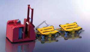 Der Transportanhänger Gecko kann als reines Transportgerät oder als Behälter-Tausch-Konzept im Routenzug (mehrere Geckos mit einem Zugfahrzeug) eingesetzt werden.