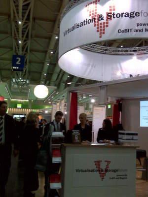 Reger Zuspruch auf dem Virtualisation & Storage-Forum in Halle 2, Stand A30.