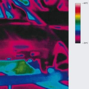 Thermografieaufnahme einer Karosserie nach dem Ofendurchlauf. Sie gibt Aufschluss über die Abkühlgeschwindigkeit der Lackschicht. Daraus lässt sich auf das Härtungsverhalten des Lacks schließen. Bilder: Fraunhofer IPA