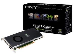 Die PNY Quadro FX 3800 kostet rund 1.050 Euro (UVP).