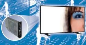 DSM Public Displays sind aus einem TFT-Monitor von NEC und einem integrierten Embedded-PC-Modul von DSM aufgebaut