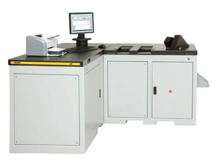 Die Premier ART Maschine (Automated Rapid Tester) von Premier Evolvics überprüft die Qualität der Baumwolle