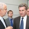 Ministerpräsident Oettinger und Volker Kauder bei Werma