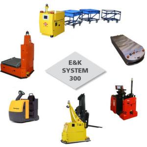 Mit dem System 300 von E&K lassen sich die unterschiedlichsten Flurförderzeuge aus der Serienproduktion automatisieren. Bild: E&K