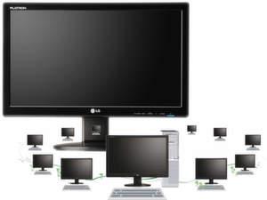 Über einen PC lassen sich bis zu zehn Network-Monitore ansteuern.