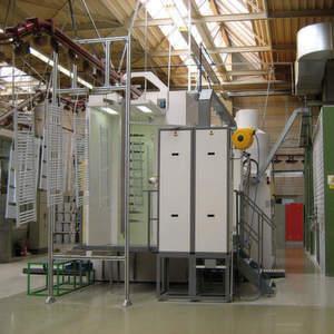 Insgesamt steigerte die Pulverbeschichtungsanlage die Beschichtungskapazität um 30%. Bild: J. Wagner