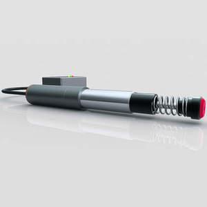 Antriebseinheit und separates Elektronikmodul des Industrie-Stoßdämpfers Magnum sorgen für schnelle, optimale Einstellung bei wechselnden Aufprallmassen und Geschwindigkeiten. Bild: ACE