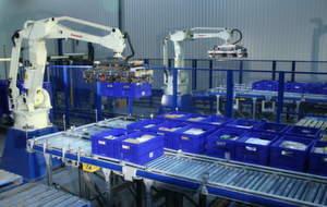 Handhabungs- und Palettieraufgaben sind eine große Domäne der Roboter von Kawasaki — und ein ideales Feld für neue, zusätzliche Automatisierungsapplikationen