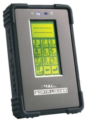 Nur mit PIN kommt man an die auf der externen Amacom Data Locker Festplatte gespeicherten Daten.