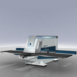 Die neue Tru-Matic 3000 Fibre von Trumpf ist eine Multiprozessmaschine für Standardkonturen und Umformungen. Bild: Trumpf