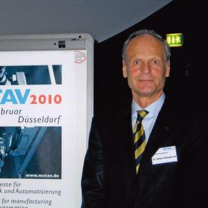 """Metav-Präsident Dr. Detlev Elsinghorst: """"Mit ihrer Präsenz auf der Messe haben Aussteller große Chancen, frühzeitig mit Innovationen am Markt zu sein."""" Bild: Kuttkat"""