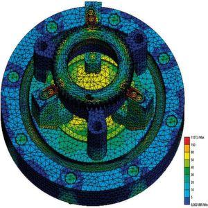 FEM-Simulation der Spanneinheit. Bild: Schunk