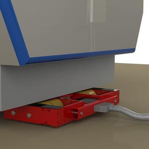 Für kürzere innerbetriebliche Transporte kann das pneumatisch gesteuerte und angetriebene Lenkwerk den Einsatz von Schleppern, Staplern oder anderen Zugmaschinen überflüssig machen. Bild: Jung