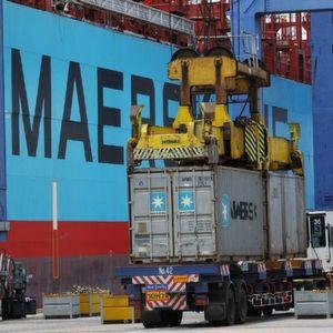 Ein Transport-Container kurz vor der Verladung. Bild: Maersk Line