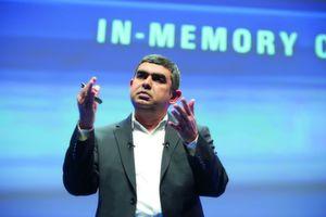 Vishal Sikka, CTO und Vorstandsmitglied der SAP beschwor auf der Sapphire Now in Frankfurt die In-Memory-Technologie.