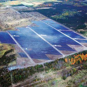 Der First Light Solar Energy Park in Stone Mills ist ein Joint Venture von Sky Power und Sun Edison. Bild: MRI