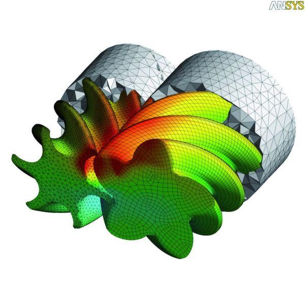 Simulation der Bewegung einer Exzenterschneckenpumpe