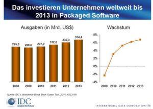 2009 verzeichnete der weltweite Markt für Packaged-Software Verluste.