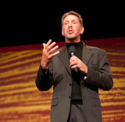 Oracle CEO Larry Ellison präsentierte während seiner Keynote ein wahres Feuerwerk an Produktinnovationen.