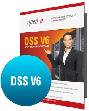 Open-E bietet das Speicherbetriebssystem DSS V6 mit Lizenz-Kapazitäten von vier, acht und 16 Terabyte an.