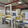 Sackpalettierer mit Stretcher und Drucker im Baukastensystem