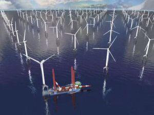 Windpark BARD Offshore 1 in der Nordsee