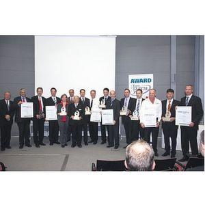 Vertreter der ausgezeichneten Unternehmen nahmen den Euroblech-Award 2010 entgegen. Bild: Krampert