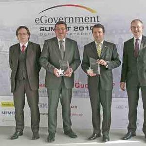 Franz Josef Pschierer und Jürgen Häfner mit eGovernment Award geehrt