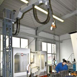 Der Säulenmanipulator und der Elektrokettenzug bieten viele Anwendungsmöglichkeiten. Bilder: Kito Europe