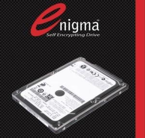 Die selbstverschlüsselnden Festplatten im Origin Storage Enigma Set bieten 250 oder 500 GB Kapazität und Verschlüsselung nach 256-Bit-Opal oder 128-Bit-FIPS-140-2.