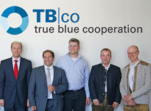 Die True-Blue-Partner (v.l.): Thomas Schrader (GIS), Anastasios Christodoulou (Novem), Frank Brieger (Condast), Rolf Hamel (Nextevolution), Andreas Mousset (SVA).