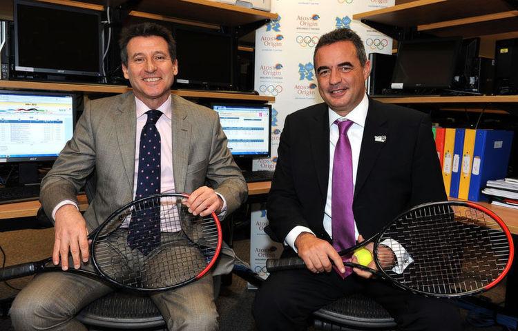 von links nach rechts: Sebastian Coe und Patrick Adiba, CEO für Iberia, Olympia and Major Events