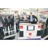 Ausstellungsbereich zeigt mobile Roboter für die industrielle Produktion