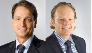 Marc Müller (li.) ist Geschäftsführer Vertrieb der Tech-Data-Gruppe, Ulrich Hampe ist sein Nachfolger als Azlan-Chef.
