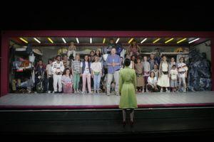 Szene aus dem Bühnenstück Manderlay am Stuttgarter Schauspielhaus, dem Lapp 2009 die Premiere rettete