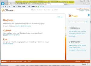 Der Start Screen von Microsoft Office 365.