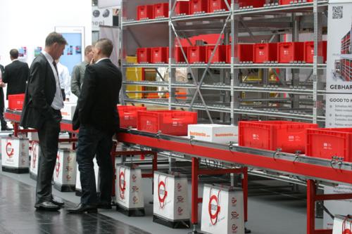 Die Gebhardt Fördertechnik GmbH aus Sinsheim präsentierte auf der Cemat 2011 ...