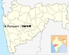Location of Rasayani in Maharashtra and India (Picture: Wikipedia)