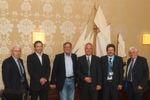 Die Gründer wissen sich auf dem richtigen Kurs: (von li.) Georg Wolf, Jörg Laakmann, Klaus Neumann, Thorsten Cordes, Wolfram und Gerhard Lambeck.