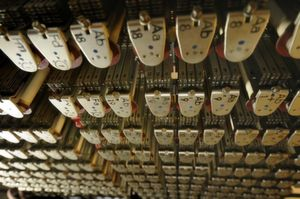 Sieht geheimnisvoll aus, ist es aber nicht: Relais des legendären elektromechanischen Zuse-Rechners Z11 von 1958. Zu sehen im Computermuseum Kiel