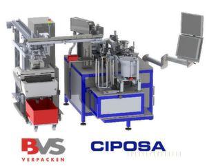 Machine sur mesure d'assemblage, de marquage laser, de contrôle par vision et d'emballage. (Image: Ciposa)