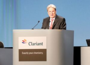 """We have an excellent portfolio, which involves the possibility of bigger growth."" Hariolf Kottmann, CEO of Clariant (Picture: Clariant)"