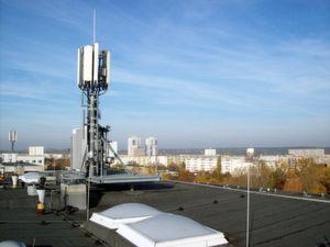 Ein LTE-Mast von Telefónica in Halle.